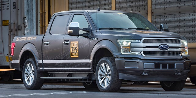 Westlake Legal Group ford-2 Supertruck? Electric Ford F-150 debuts by towing a train Gary Gastelu fox-news/auto/style/pickups fox-news/auto/make/ford fox-news/auto/attributes/electric fox news fnc/auto fnc df4c5420-2b88-5fa5-912b-829c5ee00612 article