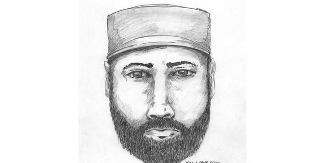 A sketch of a man who was was seen talking to the couple in the evening of July 14.