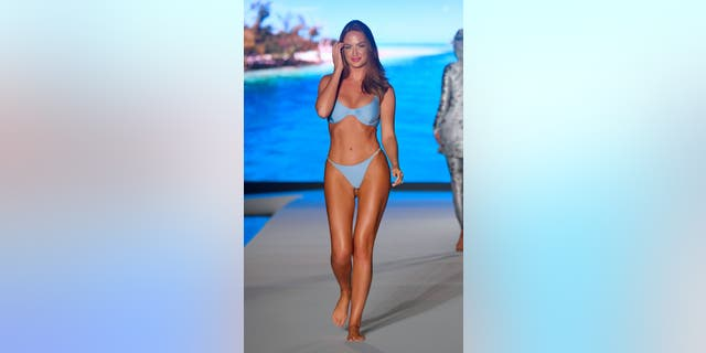 Haley Kalil walks the runway during the 2019 Sports Illustrated Swimsuit Runway Show During Miami Swim Week At W South Beach.