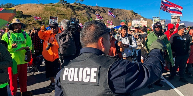 Westlake Legal Group hawaii-telescope Police in Hawaii reportedly arresting protesters in standoff over construction of Mauna Kea telescope fox-news/us/us-regions/west/hawaii fox-news/science/air-and-space/astronomy fox-news/science/air-and-space fox news fnc/science fnc e5ab3ec2-1f32-5c9c-8307-4d0794e68112 article