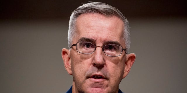 Gen. John Hyten appears before the Senate Armed Services Committee in July.