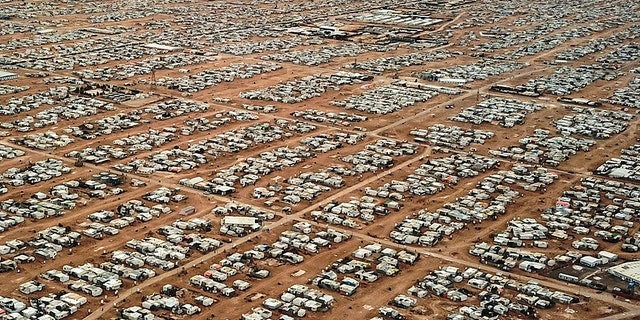 A view of Zaatari refugee camp, located in north Jordan close to the border with Syria, was opened in 2012.