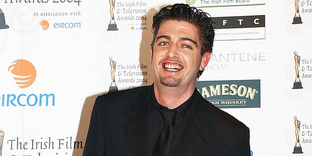 Karl Shiels attends the Irish Film and Television Awards in the Burlington Hotel on Oct. 30, 2004 in Dublin, Ireland. Shiels died in July 2019 at 47 years old.