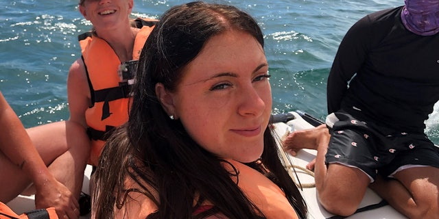 Maisie Squires, pictured, said she was enjoying the end of her family's two-week trip to Cuba with a snorkeling excursion on July 23 when the terrible sunburn struck.
