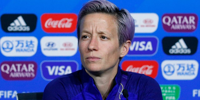 Rapinoe called out FIFAin a press conference on the eve of the title match against the Netherlands. (AP Photo/Francois Mori)
