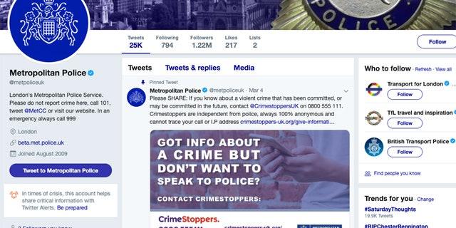 هکرها توییتر اسکاتلند یارد را هدف قرار دادند که 1.2 میلیون دنبال کننده دارد