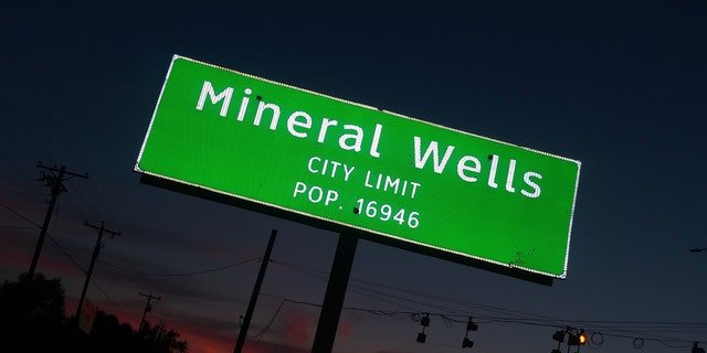Mineral Wells, Texas is located an hour west of Fort Worth.