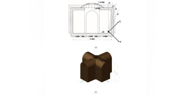 3D-модель подземного помещения, полученная по результатам обнаружения мюонов.
