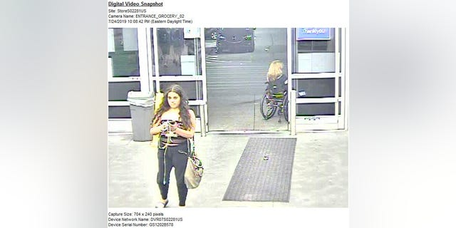 The bizarre incident allegedly took place on July 24, according to a screengrab from a surveillance camera at the store.