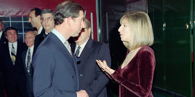 Prince Charles attends a show starring Barbra Streisand on April 20, 1994. The pair were rumored to have an affair.