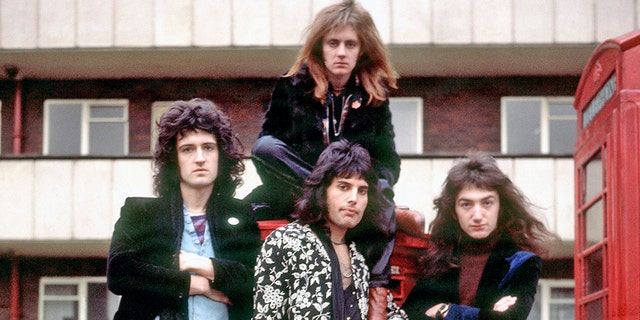 gardening Queen members Brian May, Roger Taylor, Freddie Mercury and John Deacon pose for a photo circa 1973. The band's magnum opus, 'Bohemian Rhapsody,' became the oldest music video ever to break 1 billion views on YouTube.