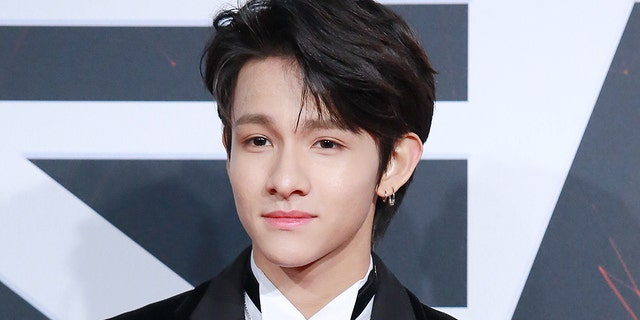 Samuel Kim Arredondo poses on the red carpet of 2018 Bazaar Men of The Year on Dec. 12, 2018 in Beijing. His father was found dead in Mexico in July 2019.