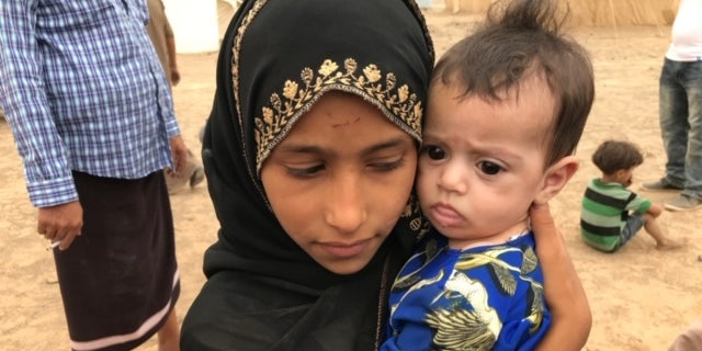 Children displaced from their homes in Sana'a amid the protracted conflict