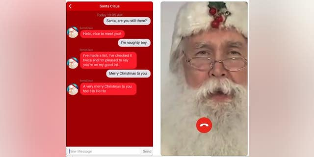 The above screen shot is from the Santa Call and Text You app's web site.