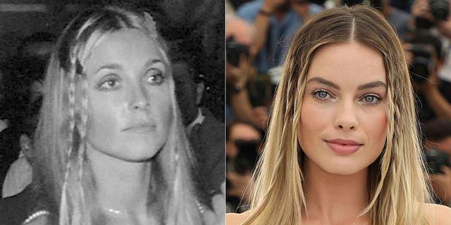 Sharon Tate in 1968 (L) and Margot Robbie in 2019 (R) (Getty )