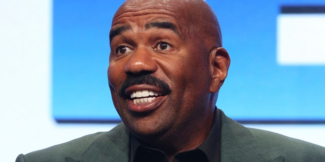 In this Aug. 3, 2017, file photo, Steve Harvey participates in the