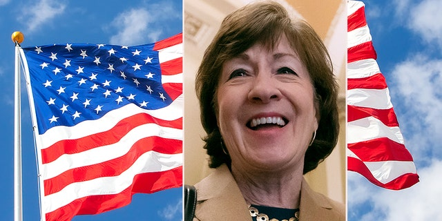"Sen. Susan Collins, R-Maine, is a co-sponsor of the ""All-American Flag Act"" with Sen. Sherrod Brown, D-Ohio."