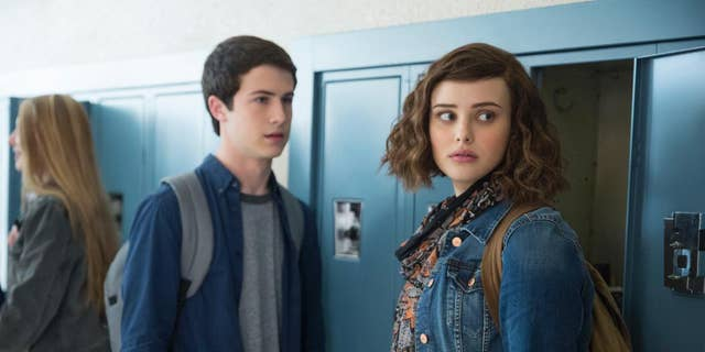 "Actors Dylan Minnette and Katherine Langford seen in Netflix's ""13 Reasons Why."""