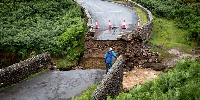 Westlake Legal Group uk-bridge-rain-collapse Roads, bridge washed out as heavy rain and hail pummeled parts of UK Stephen Sorace fox-news/world/world-regions/united-kingdom fox-news/weather fox news fnc/world fnc e06fbf2c-e976-56a3-ac7c-d4e111269fa2 article