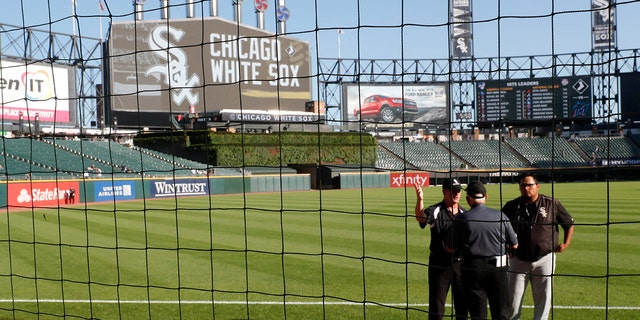 The Chicago White Sox became the first MLB team to extend netting all the way to the foul poles. (AP Photo/Charles Rex Arbogast)