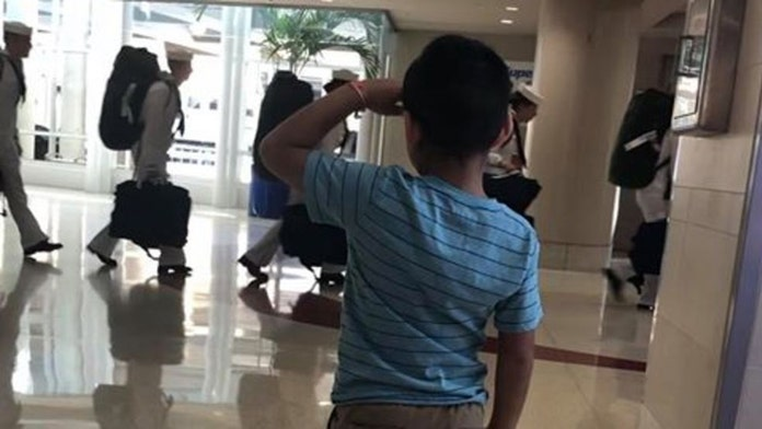 Texas boy, 6, goes viral by saluting military at San Antonio airport