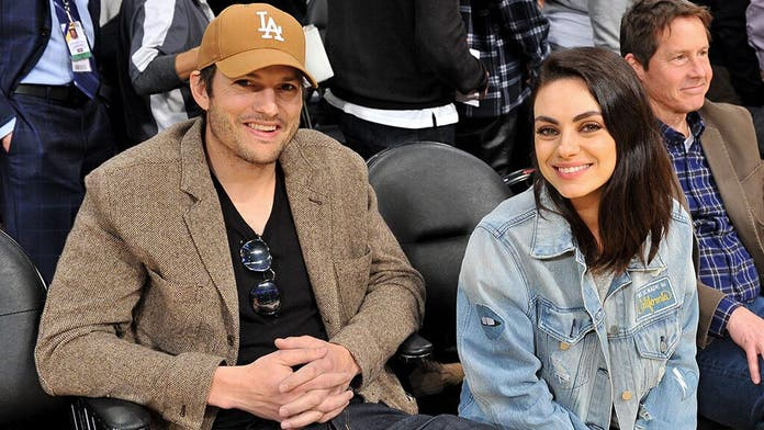 Ashton Kutcher and Mila Kunis sing children's song 'La Vaca Lola' in funny home video