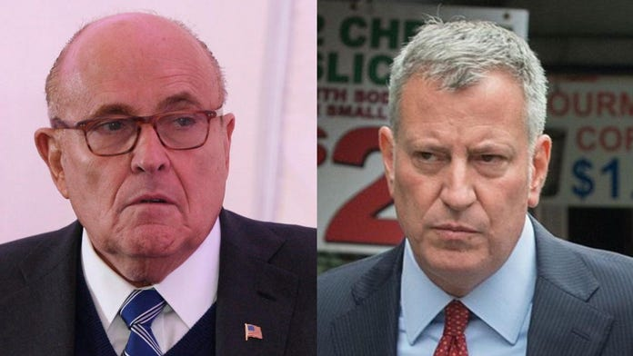 Giuliani shreds de Blasio over videos of NYPD officers doused with water: 'He's a disgrace'