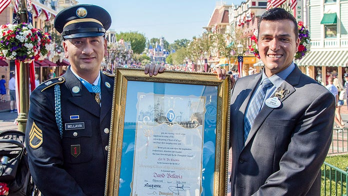 Disneyland honors only living Medal of Honor recipient from the Iraq War: 'David is a hero'