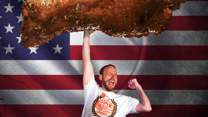 Joey Chestnut ate 413 wings during Hooters challenge on National Chicken Wing Day