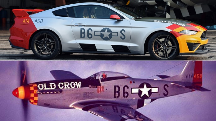 World War 2 flying ace 'Bud' Anderson honored with Ford Mustang 'Old Crow' tribute car
