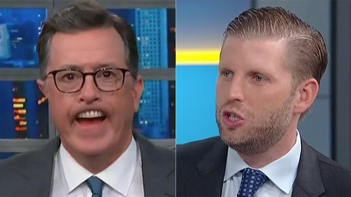 Stephen Colbert mocks Eric Trump's physical appearance in harsh monologue
