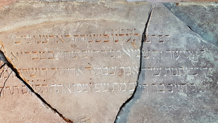 Hebrew inscriptions exposed for the first time since historic synagogue was destroyed in the Holocaust