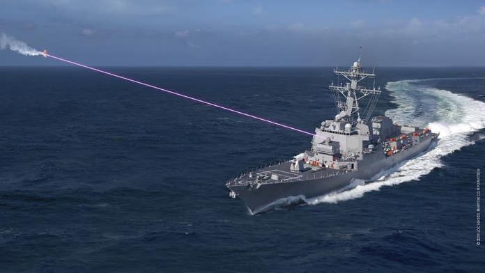 Navy arms destroyers with new high-powered laser, changes war tactics