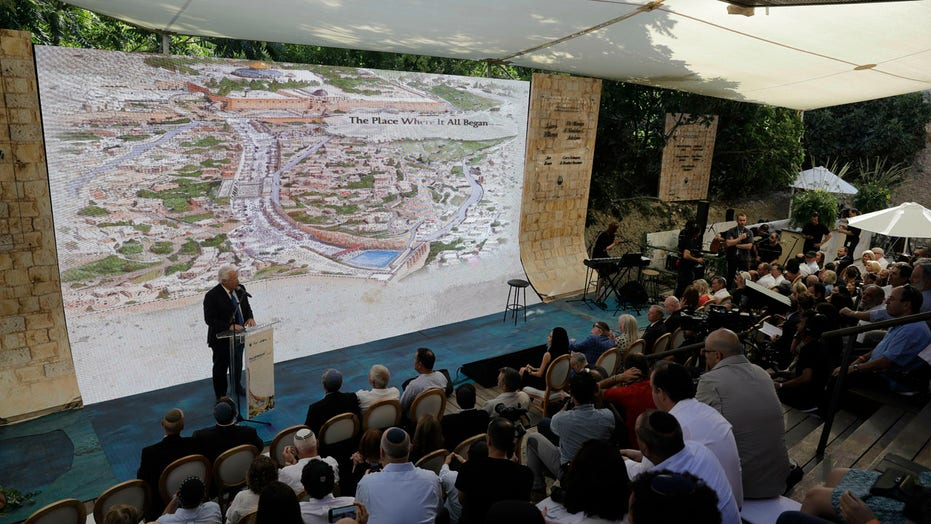 US ambassador to Israel and Prime Minister Netanyahu unveil the newly discovered 2000-year-old Pilgrimage Road