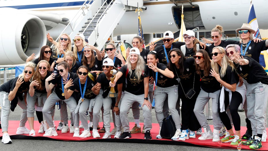 The US Women's Soccer team discuss potential White House visit after winning their fourth Women's World Cup