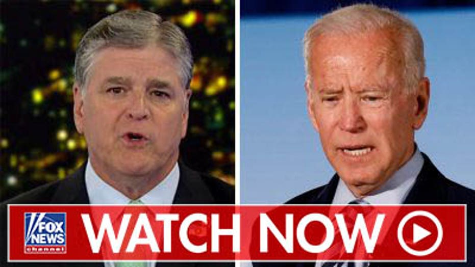 Sean Hannity challenges Joe Biden to a pushup contest