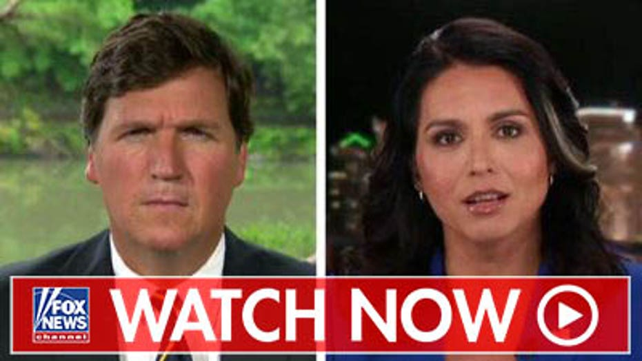 Tulsi Gabbard talks to Tucker about suing Google