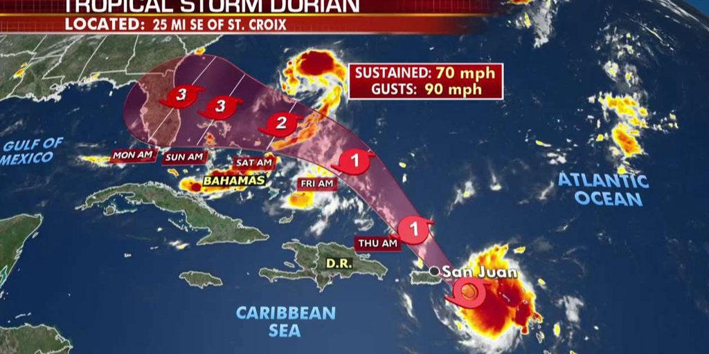 Dorian becomes hurricane near US Virgin Islands, may ...