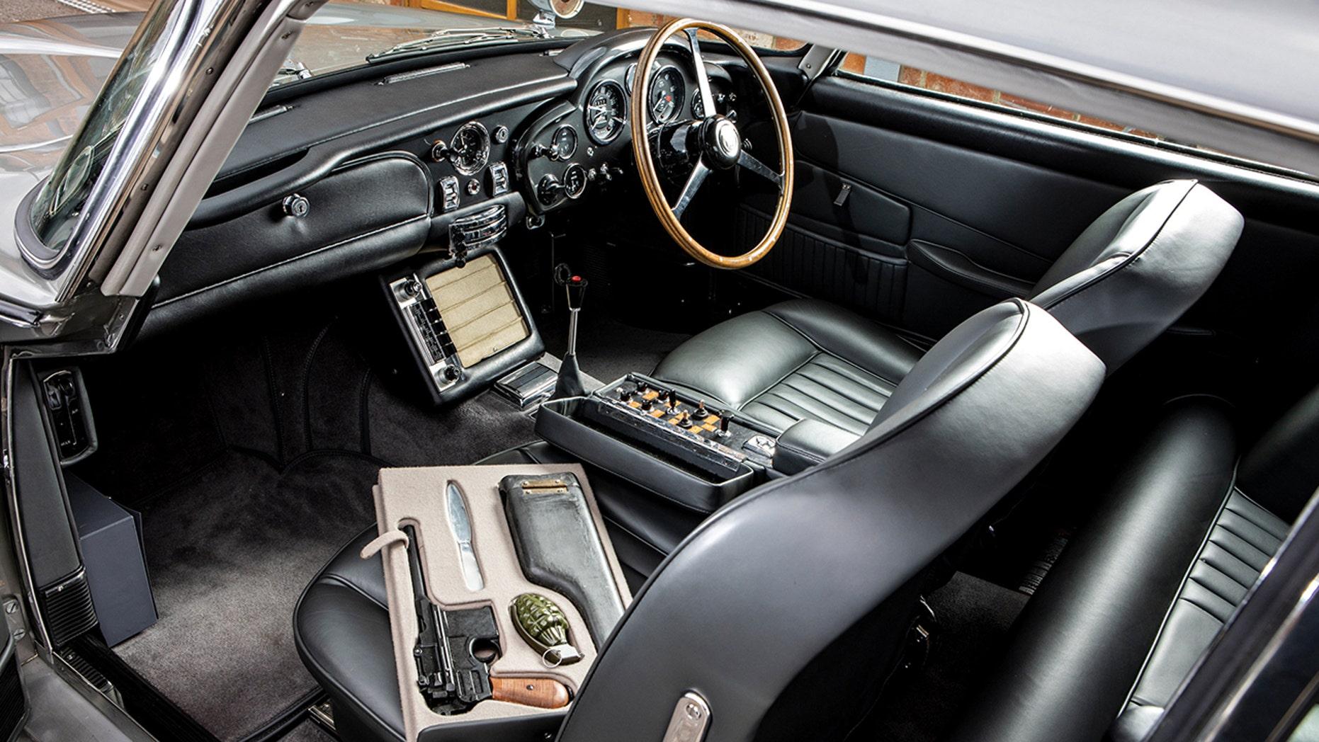 James Bond Aston Martin DB5 interior
