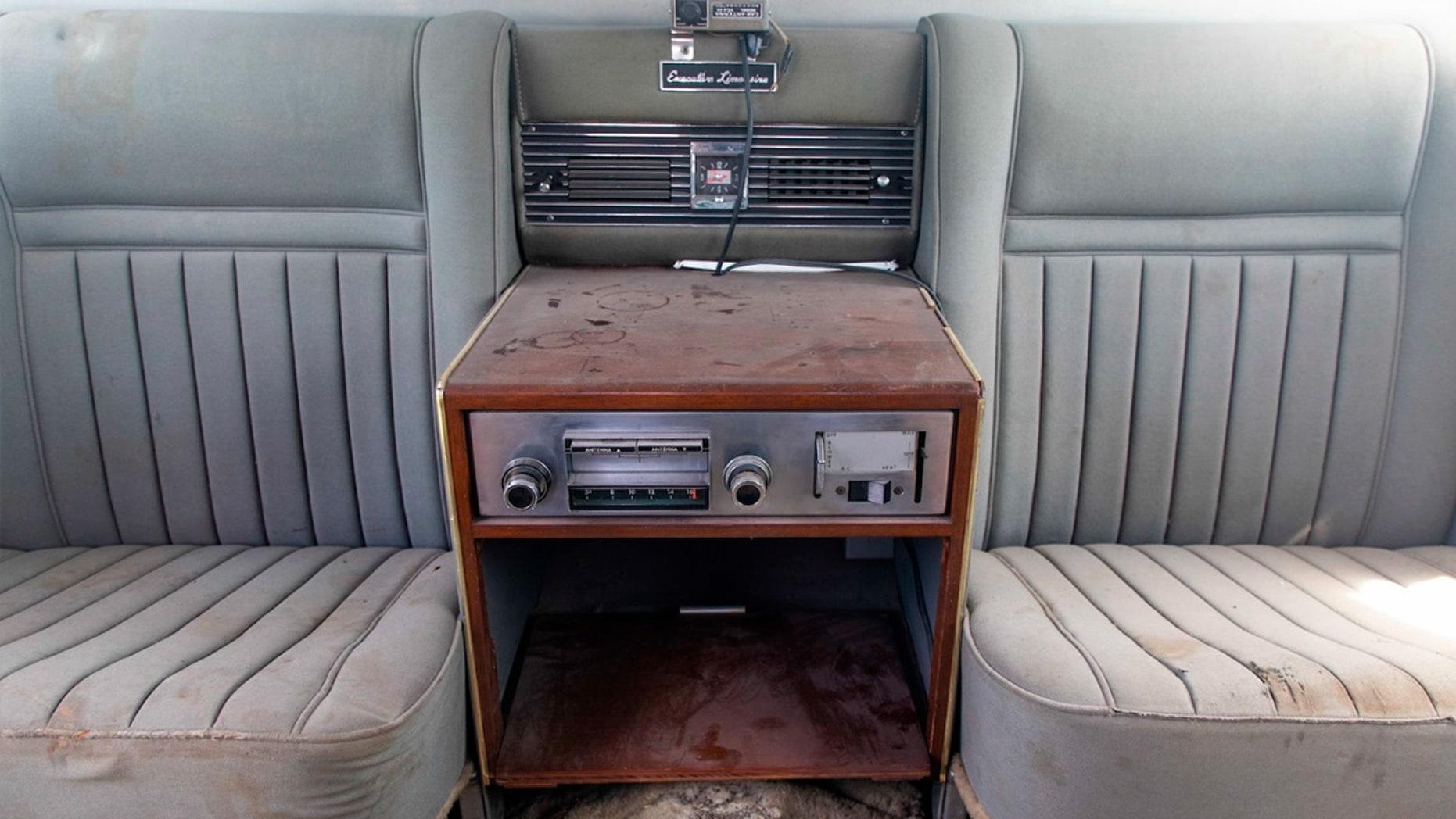Elvis Presley's Lincoln Limousine interior