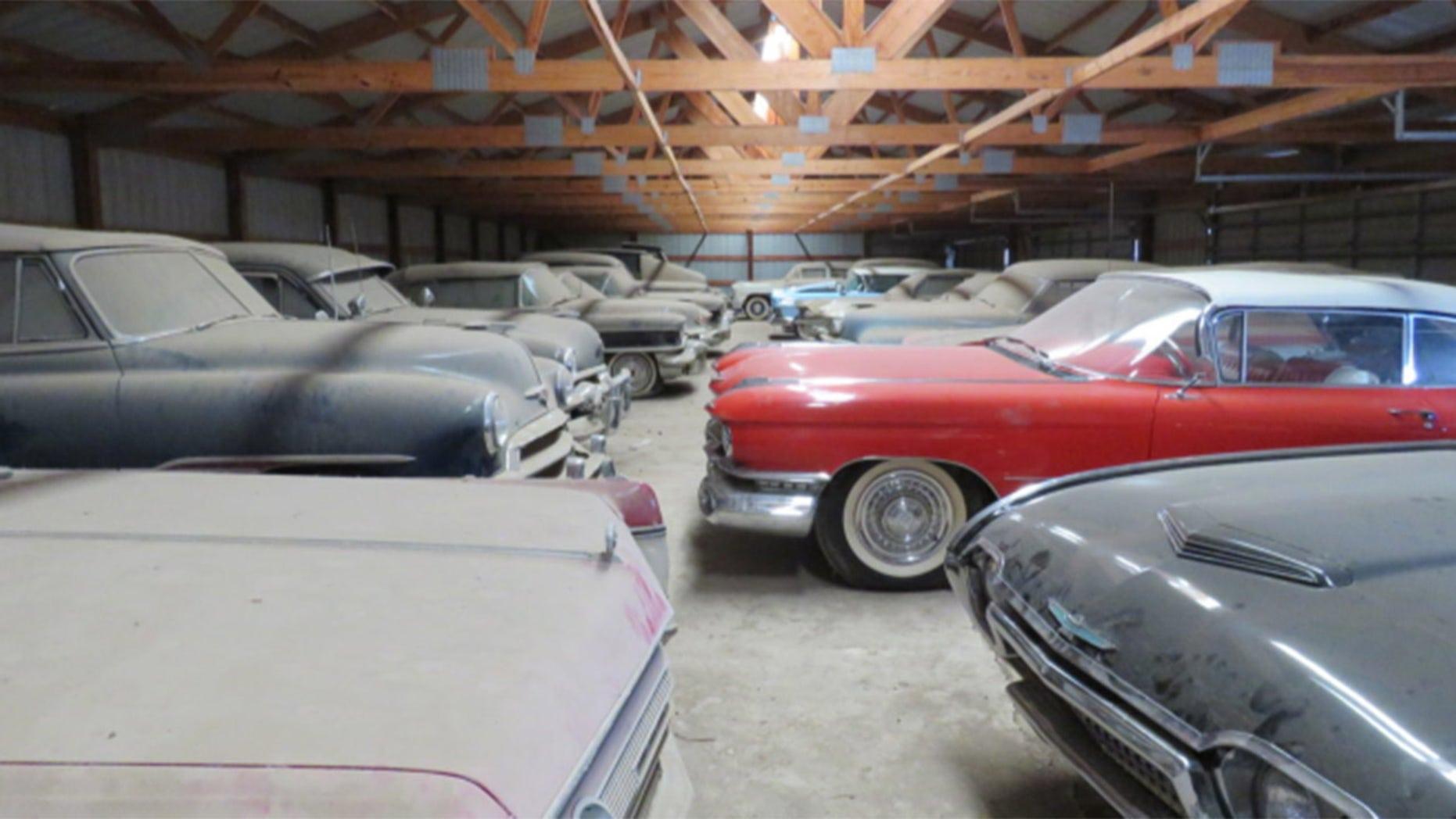 farmer's massive car collection