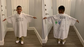 Mom's clever T-shirt tradition for son's first days of school goes viral