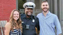 Cincinnati police officer helps with couple's engagement, earns praise from bride-to-be's mom