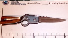 TSA caught passenger with gun-shaped knife: 'On the fence about bringing a knife to a gun fight'