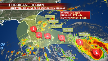 Dorian to continue strengthening as it moves through Bahamas to Florida