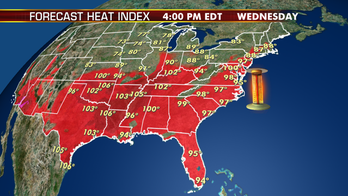 Summer heat and humidity stay in place in South; storms threaten Northeast to Mid-Atlantic