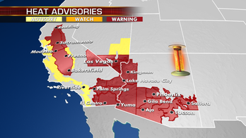 Excessive heat warnings remain in Desert Southwest; isolated strong storms possible across Southeast