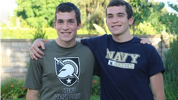 California twins split up to attend different US military academies
