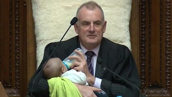New Zealand lawmaker brings baby to parliament, speaker takes on role of babysitter