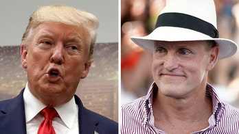Woody Harrelson says he had to 'go outside and burn one' to get through dinner with Donald Trump